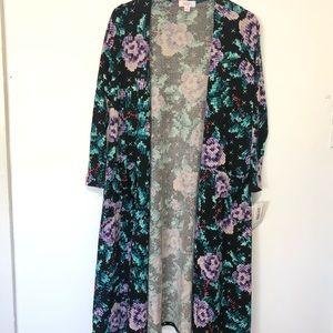 Lularoe Sarah Duster Floral Cardigan Sweater